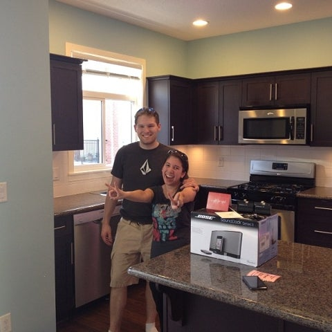 Aron & Mel's first home together!! An amazing couple!